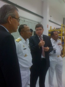 Site visit by Chief of Malaysia Navy Site visit by Chief of Malaysia Navy dated 3rd May 2011
